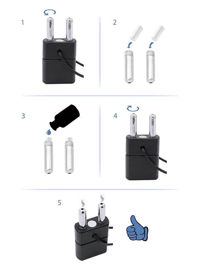 Inhalator z magnetycznym zatrzaskiem - Push Xtreme - Black