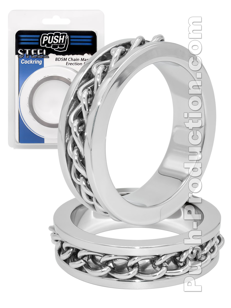 Pierścień erekcyjny na penisa BDSM Push Steel