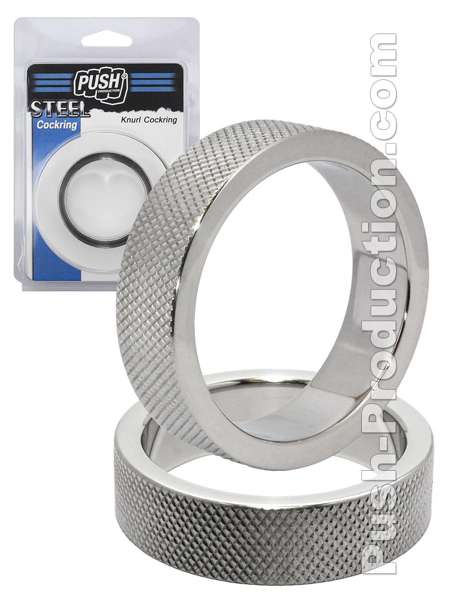 Pierścień erekcyjny Push Steel - Knurl