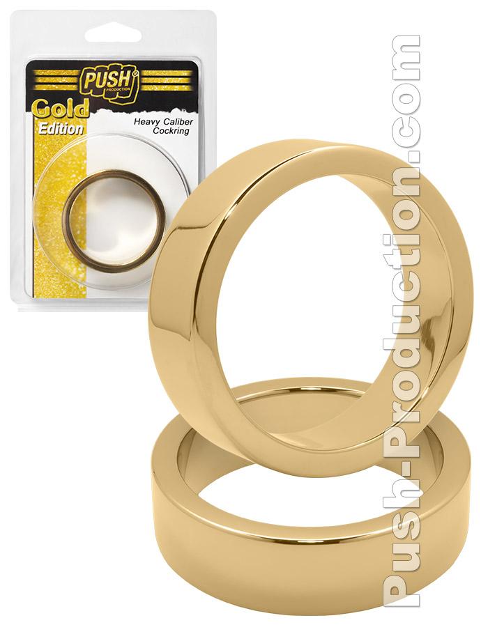 Pierścienie erekcyjne Push Gold Edition Heavy Caliber