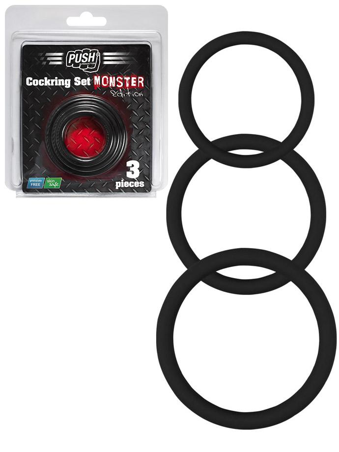 Silikonowe pierścienie erekcyjne Push Monster