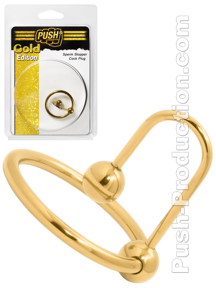 Stoper spermy Push Gold Edition - korek docewkowy