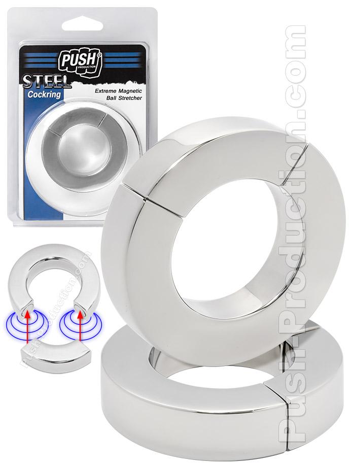 Zacisk na jądra Push Steel Extreme - Magnetic 14 mm