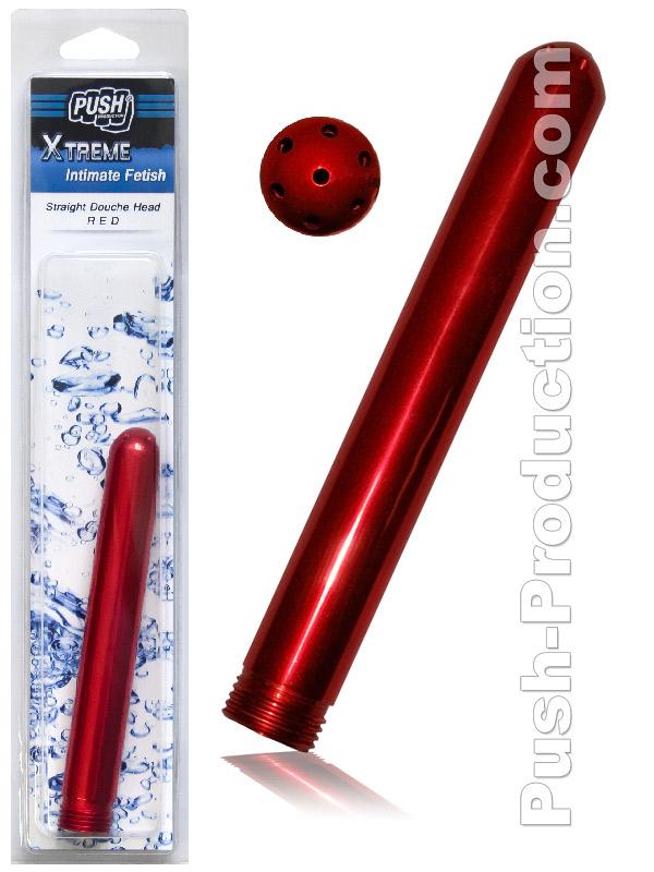 Prysznic analny Push Xtreme - dysza prosta - czerwona