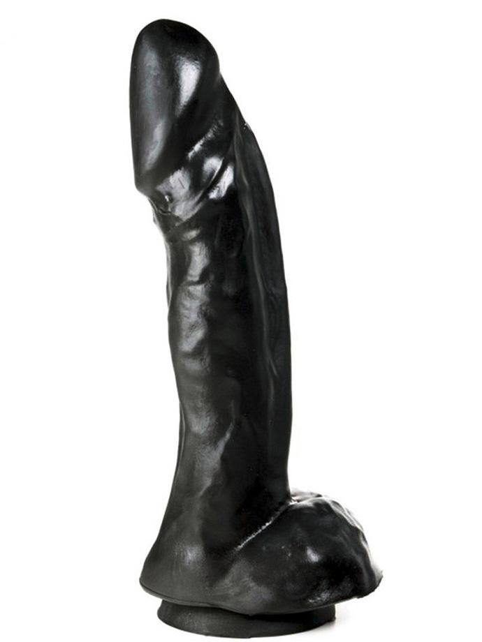 Dildorama 515 line XL Dildo 26,7 cm z przyssawką - czarny