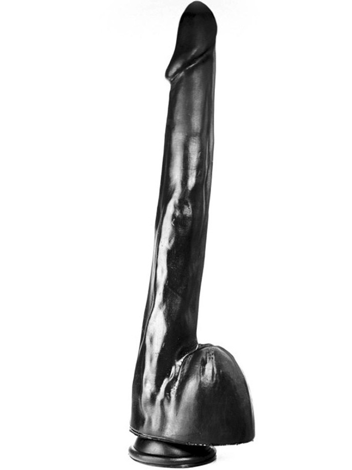 Dildorama 515 line XXL 31,8 cm z przyssawką - czarny