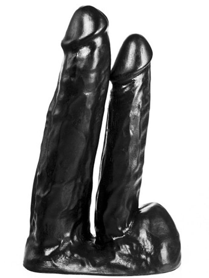 Podwójne Dildo Dildorama 515 line 18+15 cm - czarny