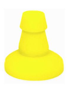 Przyssawka do dilda Keep Burning - intensywnie żółta