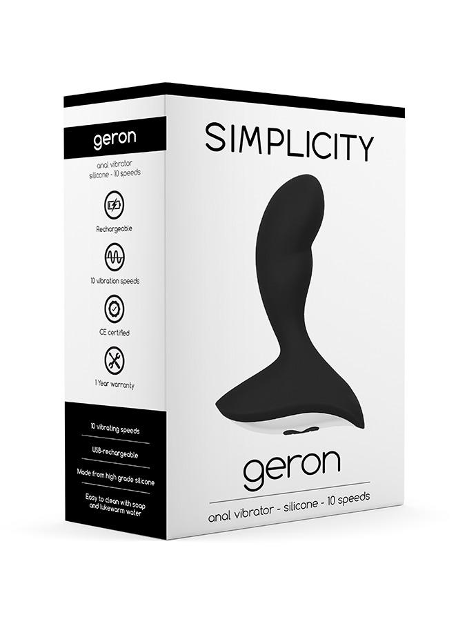 Wibrator analny Geron - 10 Speed - czarny