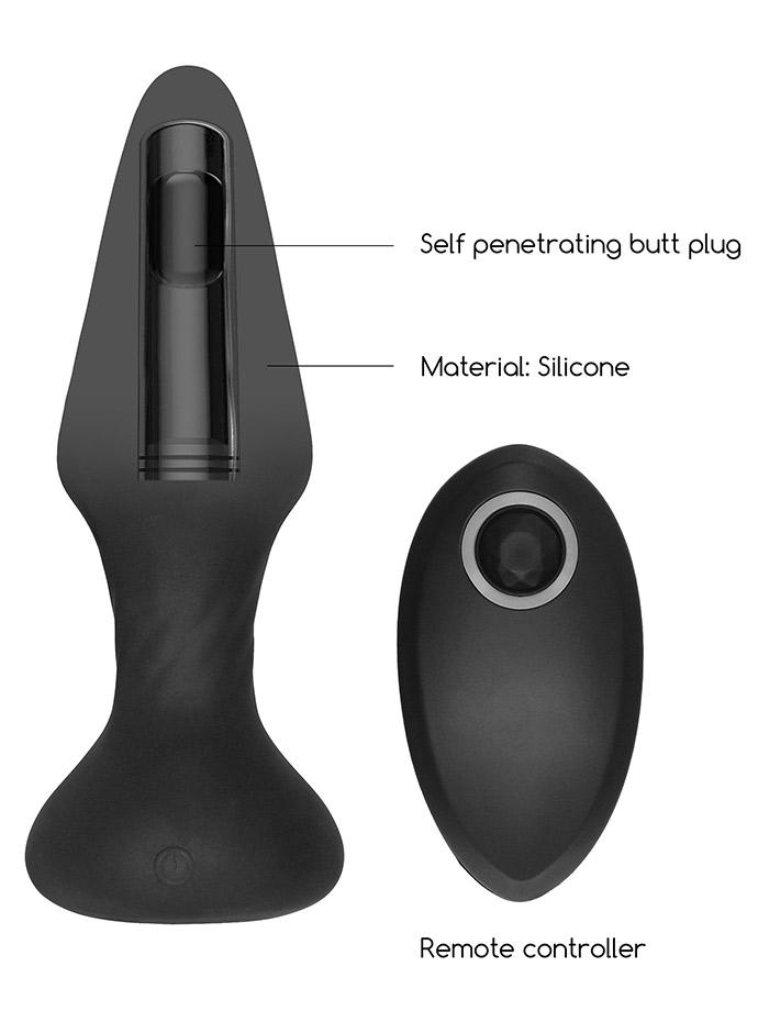 Self Penetrating Butt Plug with Remote Control - SONO No.81