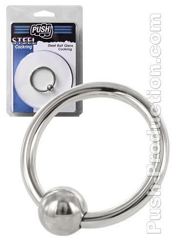 Pierścień erekcyjny Push Steel Ball Glans