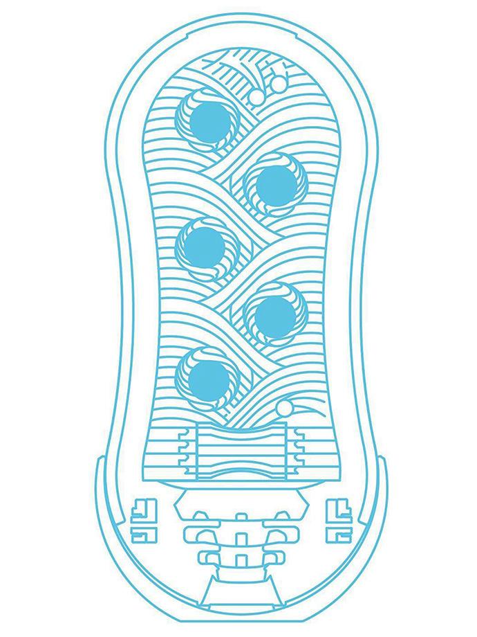 Masturbator Tenga - Flip Orb - Blue Rush