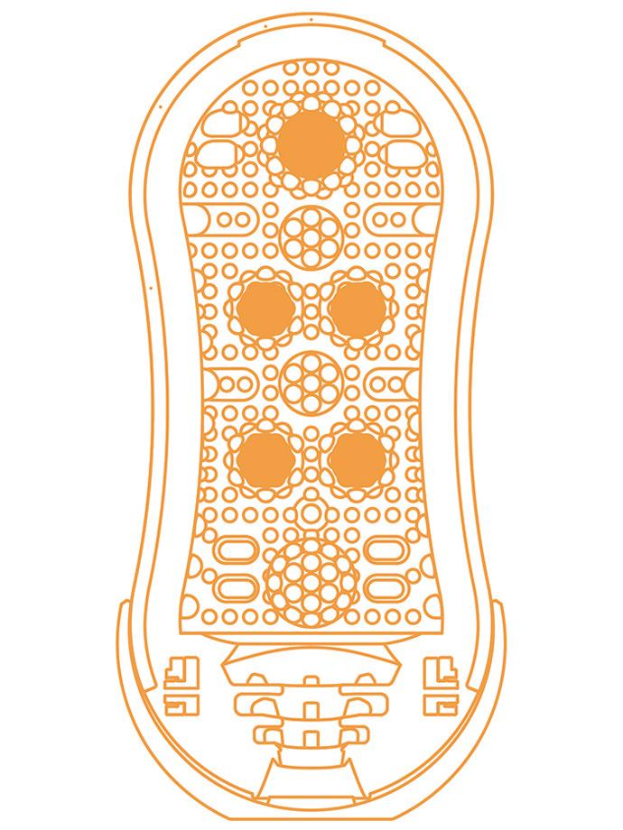 Masturbator Tenga - Flip Orb - Orange Crash