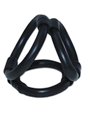 Klatka na penisa Tri Ring - czarna