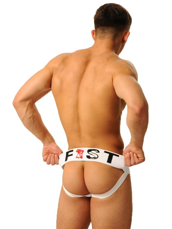 Jock Strap Fist Logo - białe