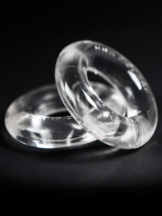 2 pierścienie erekcyjne ZIZI Top Cockring - przezroczyste